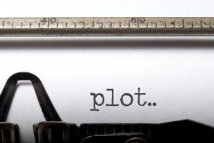 Paper in a typewriter