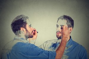 drawings of men drawing on each other