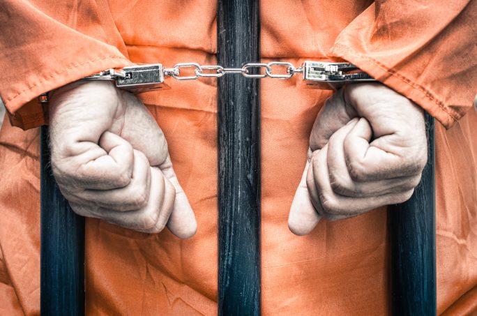 Pisoner in handcuffs