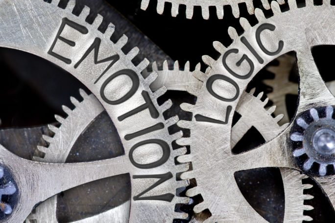 gears labeled emotion and logic