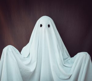 ghost made of a bed sheet